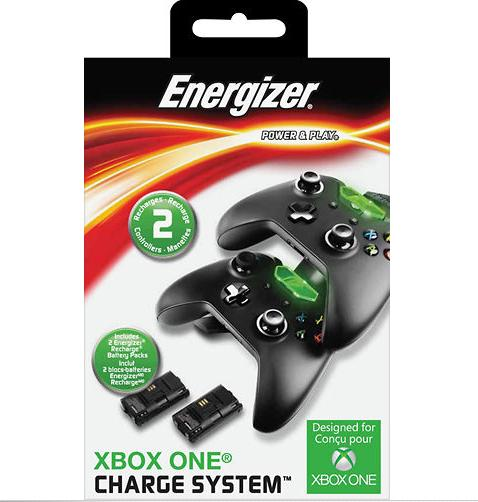 $19.99 Energizer - Microsoft-Licensed Energizer 2X Charging System for Xbox One