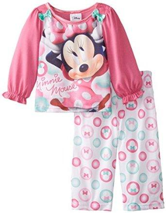 $11.5 Disney Baby Girls' Minnie Mouse Bows and Bubbles 2 Piece Pajama Set