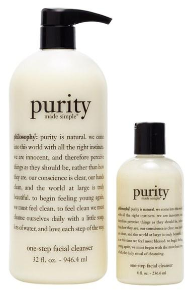 $53 Philosophy 'purity made simple' one-step facial cleanser duo