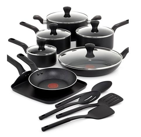 $76.49 T-Fal Culinaire 16 Piece Cookware Set