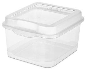 Sterilite 18038612 Small Flip Top Storage Box, Pack of 12 @ Amazon