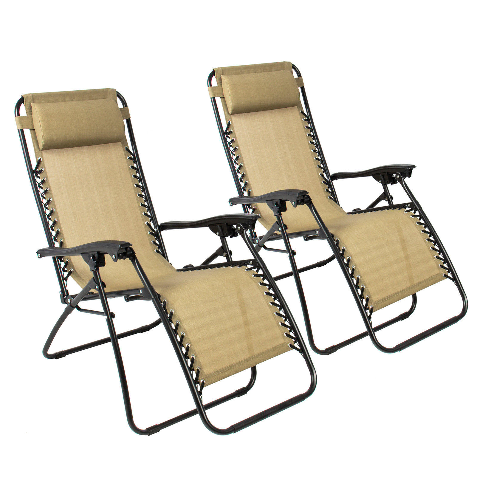 two Zero Gravity Recliner Outdoor Patio Chairs