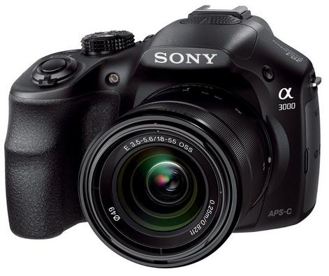 $249 Sony Alpha A3000 20.1MP Digital Camera with 18-55mm Lens