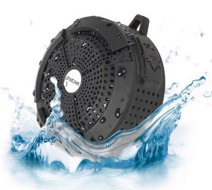$19.95 Photive Rain WaterProof Portable Bluetooth Shower speaker