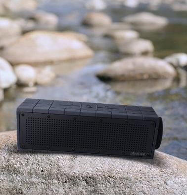 $39.95 Photive HYDRA Rugged Water Resistant Wireless Bluetooth Speaker
