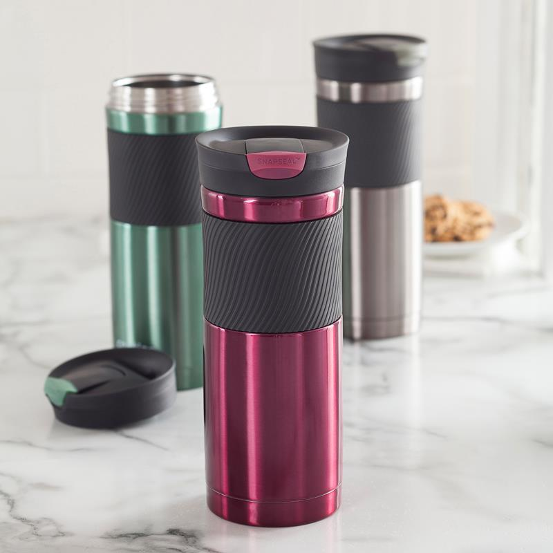$10.24 Contigo SnapSeal Vacuum-Insulated Stainless Steel Travel Mug, 16-Ounce