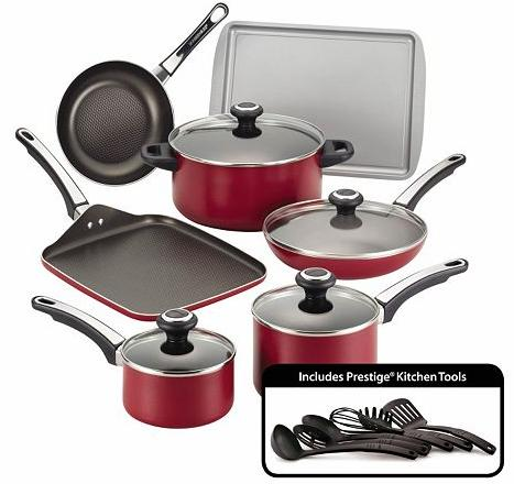 $45.99 Farberware High Performance 17-pc. Nonstick Cookware Set