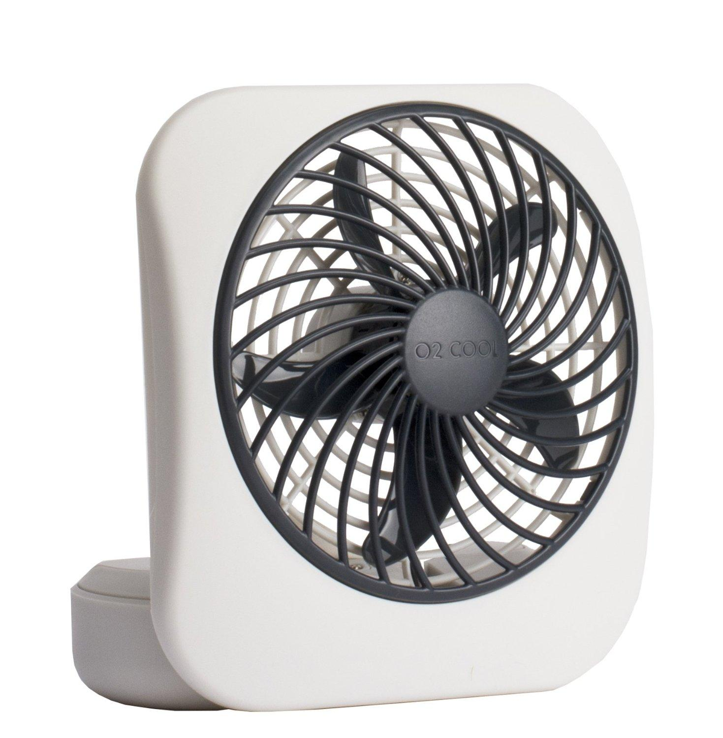 "$6.88 O2COOL 5"" Battery Operated Portable Fan in WHITE/GREY"