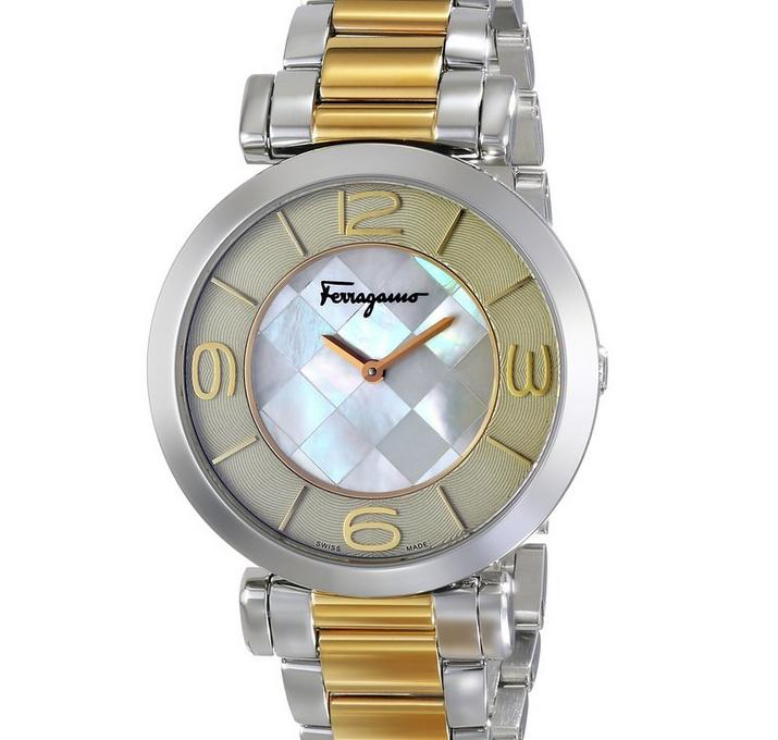 Salvatore Ferragamo Women's Gancino Two-Tone Watch
