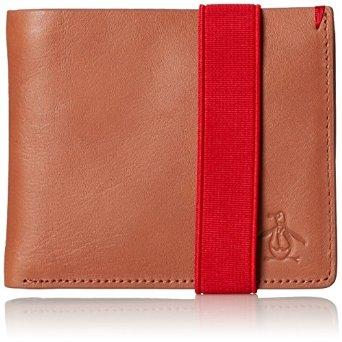 Original Penguin Men's Alberto Leather Wallet, English Tan