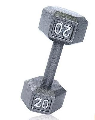 $13.28 CAP Barbell Cast Iron Dumbbell, 20 lbs, Single Weight