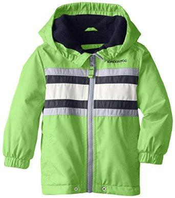 $6.77 London Fog Baby Boys' Chest Stipe with Fleece, Green, 24 Months