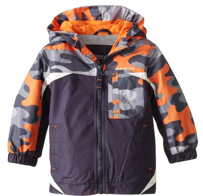 $7.13 London Fog Baby Boys' Midweight with Camo Yoke
