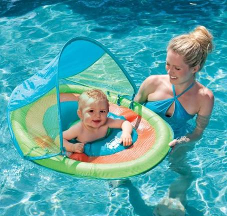 $19.21 Baby Spring Float Sun Canopy, Colors May Vary