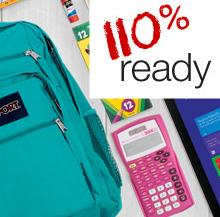 From $0.48 Back to School Sale Week: 110% Ready for school
