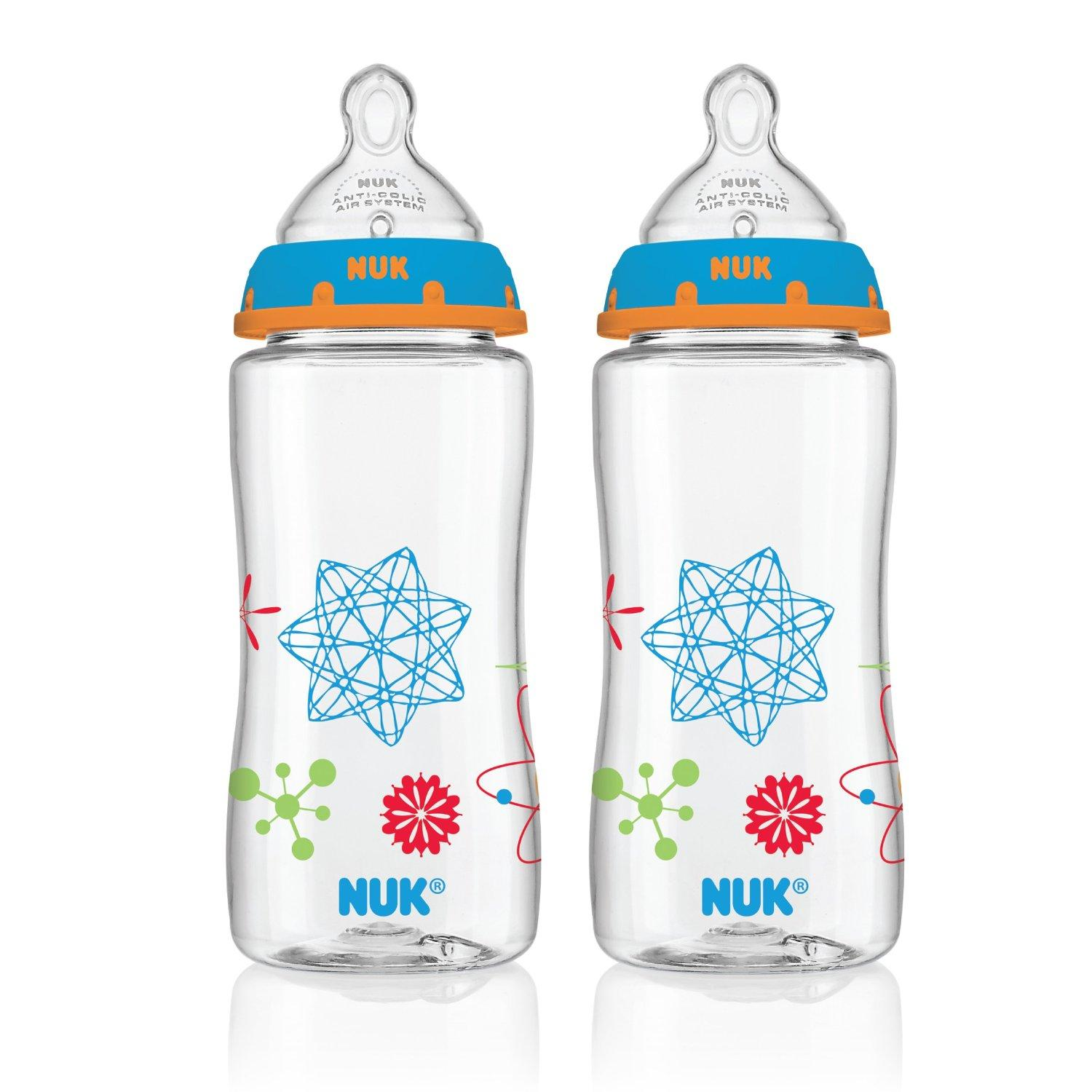 $6.18 NUK Advanced Orthodontic Bottle in Boy Colors, 10-Ounce, 2 Count
