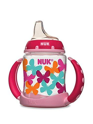 $5.19 NUK Fashion Elephants and Butterflies Learner Cup in Girl Patterns, 5-Ounce