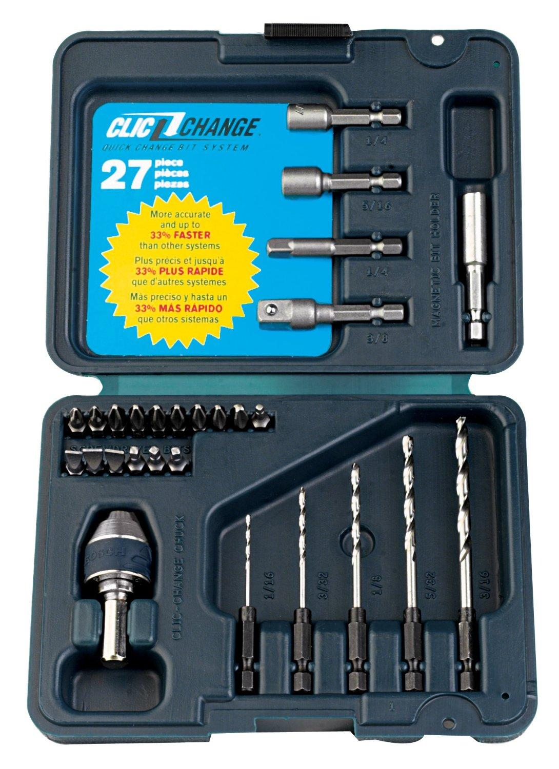 $13.1 Bosch CC2130 Clic-Change 27-Piece Drilling and Driving Set with Clic