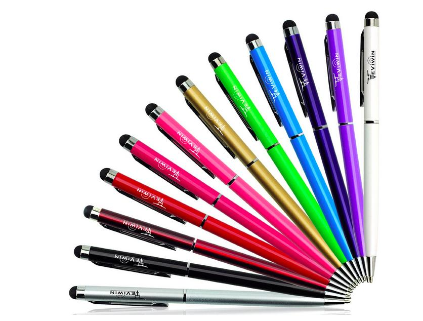 $7.99 12 Pcs 2 in 1 Slim Capacitive Stylus & Ballpoint Pen for Universal Touch Screens Devices
