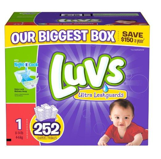 Luvs With Ultra Leakguards Diapers(Size 1-6)