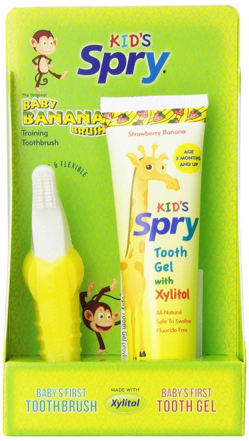 $10.97 Baby Banana Brush And Tooth Gel Combo Pack