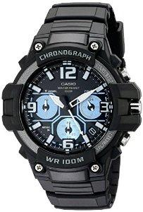 Casio Men's MCW-100H-1A2VCF Heavy Duty-Design Chronograph Black Watch