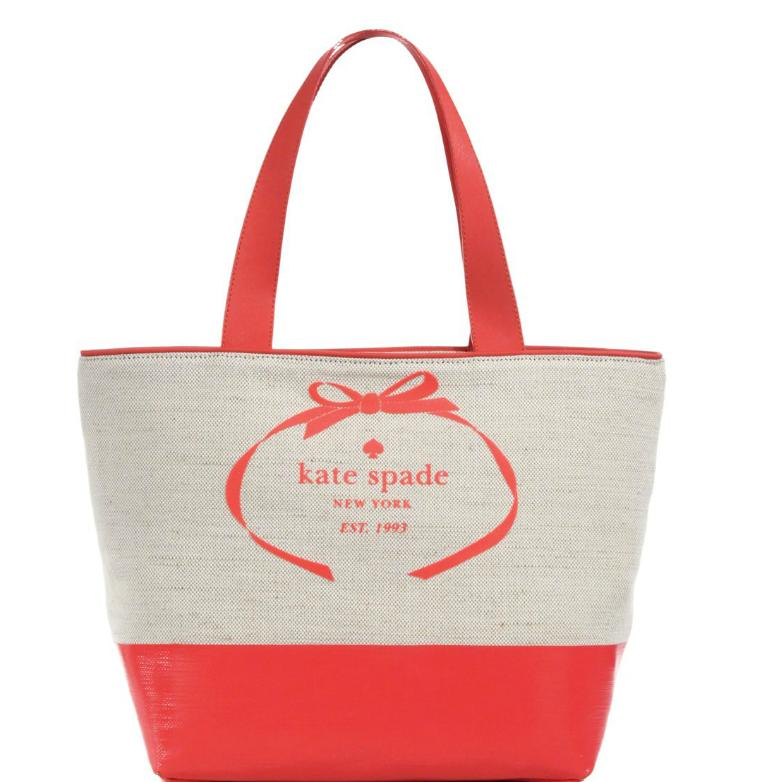 Kate Spade New York Heritage Two-Tone Canvas & Leather Tote @ Saks Fifth Avenue