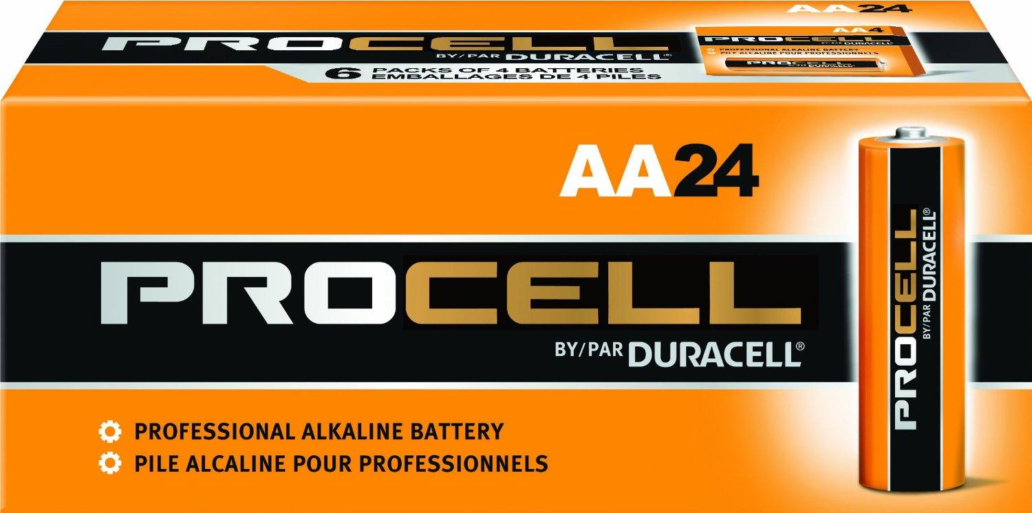 $11.53 24 Duracell Procell AA And 24 Duracell Procell AAA Alkaline Batteries + Free Batuca Battery Holders