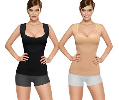 $32.99 Core Shaper and Tummy Control Tanks (2-Pack)