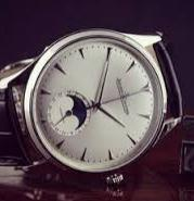 $6745 Jaeger LeCoultre Master Silver Dial Leather Men's Watch Q1368420