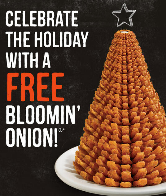FREE BLOOMIN' Onion @ Outback