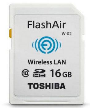Toshiba FlashAir II Wireless 16 GB Class 10 SD Memory Card, PFW016U-1BCW