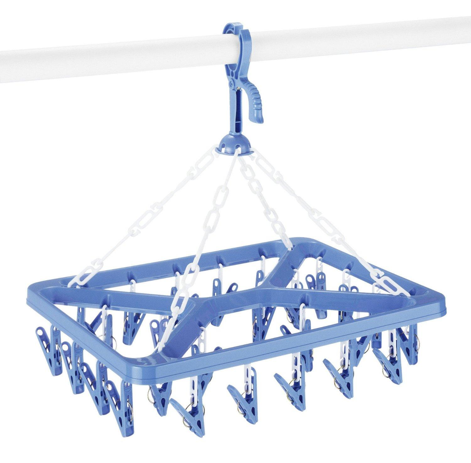 $6.99 Whitmor 6171-844 Clip and Drip Hanger with 26 Clips