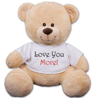 $9.98 I Love You More Teddy Bear (Dealmoon Exclusive)