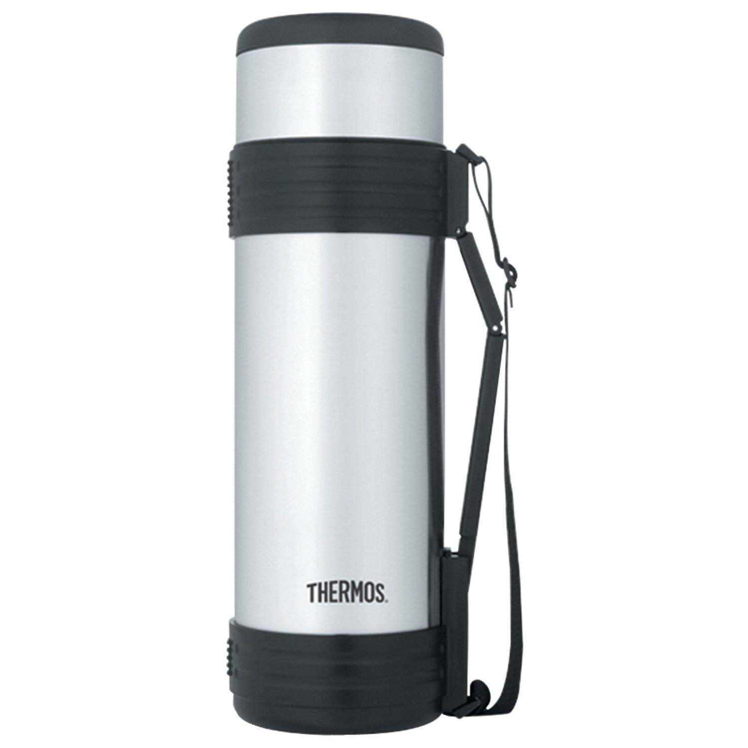 Thermos Vacuum Insulated Beverage Bottle with Folding Handle, 61-Ounce