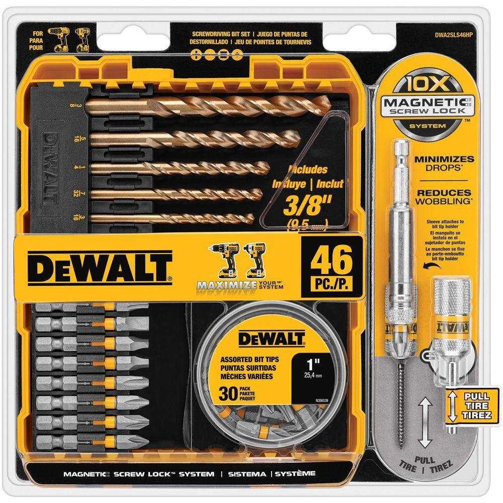 $9.94 Dewalt Maxfit Screwdriver Set with Screw Lock (46-Piece)