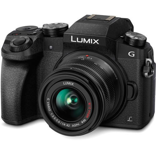 Panasonic Lumix DMC-G7 Mirrorless Camera w/14-42mm Lens, Black W/$100 Gift Card