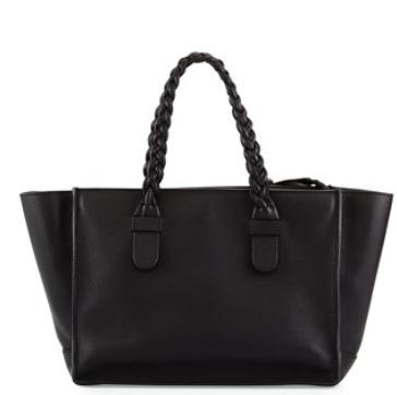 Valentino T.B.C. Braided Small Tote Bag, Black @ Bergdorf Goodman