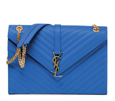Saint Laurent  Monogramme Matelasse Shoulder Bag, Royal @ Bergdorf Goodman