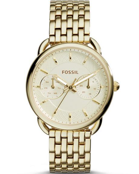 Lowest price! Fossil Women's ES3714 Tailor Gold-Tone Stainless Steel Watch