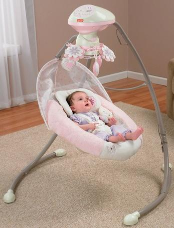 Fisher-Price - My Little Sweetie Deluxe Cradle Swing, Pink @ Walmart.com