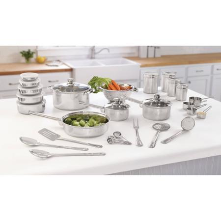 Mainstays 40-Piece Stainless Essential Kitchen Set