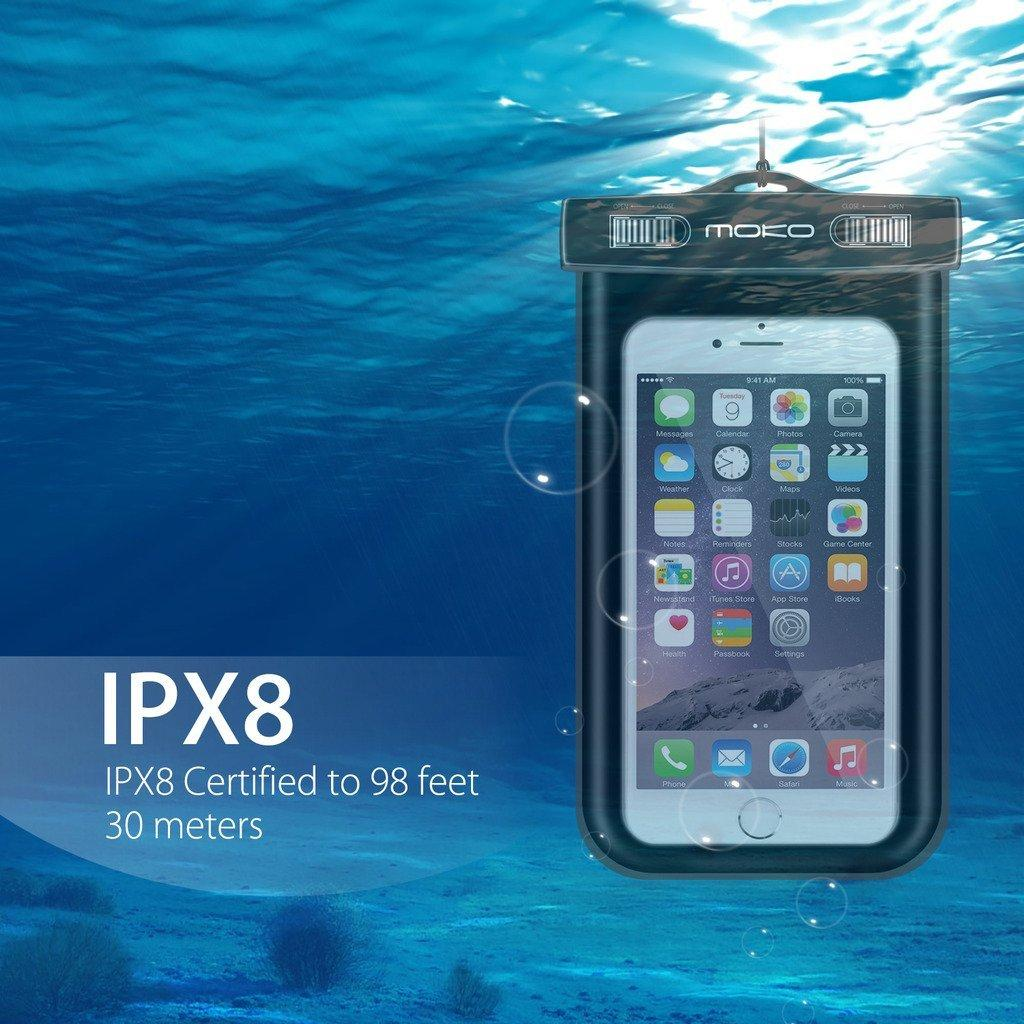 MoKo Universal Waterproof Case With Armband & Neck Strap
