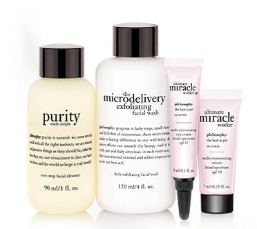 Free 4-Piece Deluxe Gifts with Any $35 Purchase @ philosophy