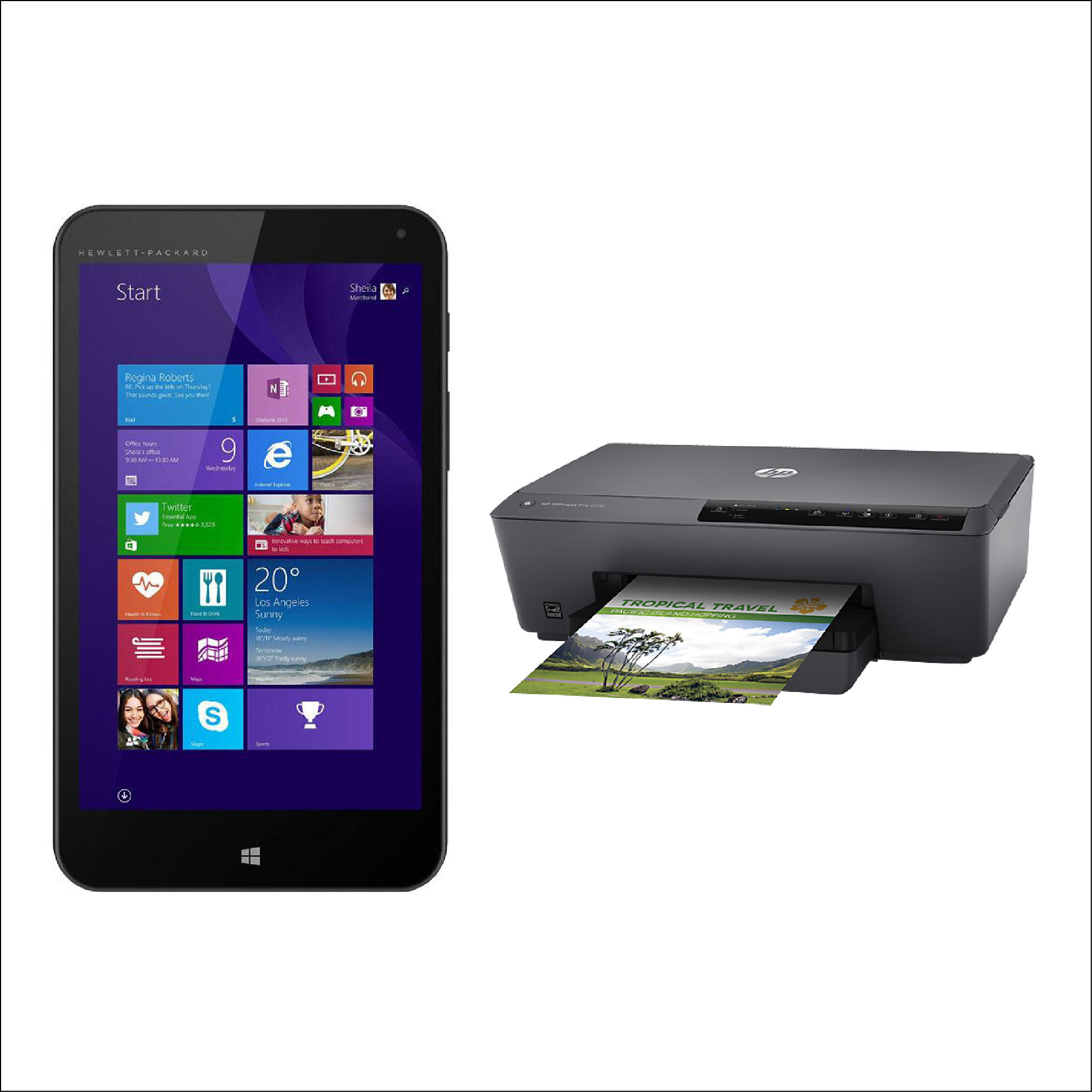 HP Stream 7 5701 Windows® Tablet + HP All-In-One Printer