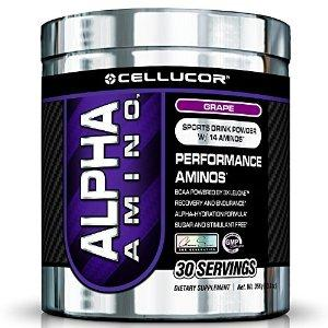 $15.99 2 X Cellucor Alpha Amino BCAA Powder Hydration Grape G3 Chrome Series, 30 Count