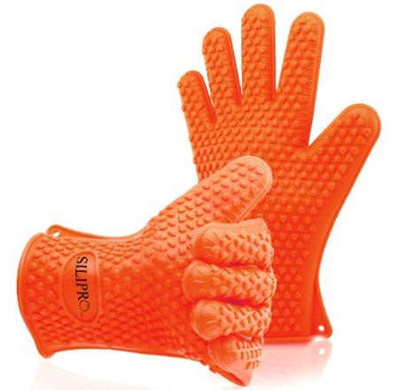 Silipro Heat Resistant Grilling Silicone BBQ Gloves for Cooking, Baking, Smoking, Grilling and Potholder