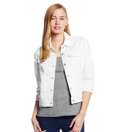 Levi's Women's Classic Trucker Jacket, Winter White with Damage, Small