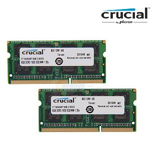 Crucial 16GB (2 x 8G) Laptop Memory