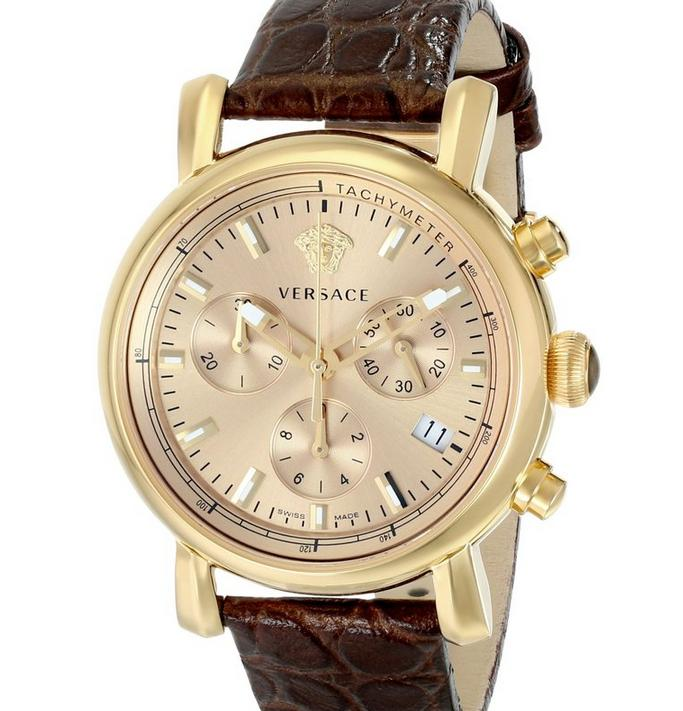 Versace Women's VLB070014 Day Glam Gold-Tone Stainless Steel Watch